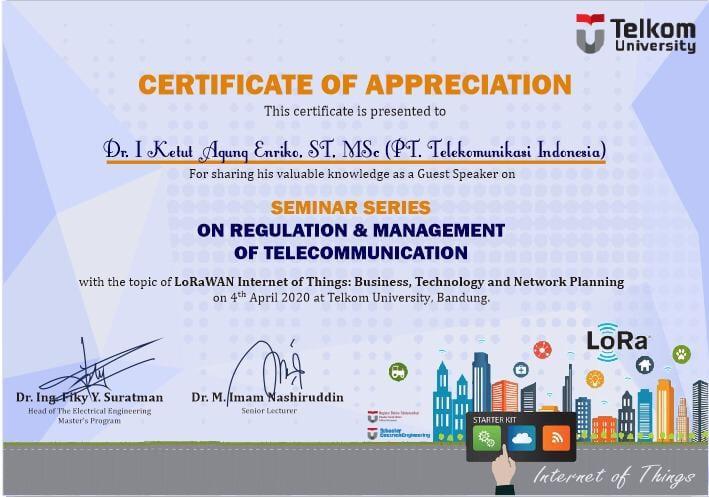 [:en]Seminar Series Regulasi & Manajemen Telekomunikasi[:]