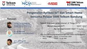 Pengenalan dan Tutorial Modul Smart Home Berbasis IoT Pada SMK Telkom Bandung
